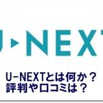 U-NEXTとは何か?評判や口コミは?